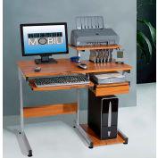 "Techni Mobili Multifunction Computer Desk, 38""W x 22""D x 35""H, Wood Grain"