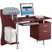 "Techni Mobili Computer Desk Chocolate, 51-1/4""W x 44""D x 39-1/2""H, Chocolate"