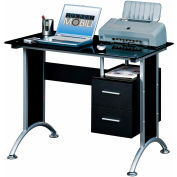 "Techni Mobili Computer Desk, 39""W x 27-1/2""D x 29-1/2""H, Black"