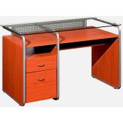 "Techni Mobili Multifunction Desk, 48""W x 24""D x 30""H, Dark Honey"