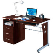 "Techni Mobili Computer Desk with Storage, 47-1/4""W x 22-3/4""D x 30""H, Chocolate"