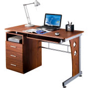 "Techni Mobili Computer Desk with Storage, 47-1/4""W x 22-3/4""D x 30""H, Mahogany"