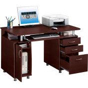 "Techni Mobili Complete Computer Desk, 48""W x 24""D x 30""H, Chocolate"