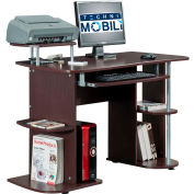 "Techni Mobili Multifunction Computer Desk, 48""W x 24""D x 30""H, Chocolate"