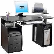 "Techni Mobili Dual Pedestal Computer Desk, 48""W x 22""D x 30""H, Espresso"