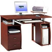"""Techni Mobili Dual Pedestal Computer Desk, 48""""W x 22""""D x 30""""H, Mahogany"""