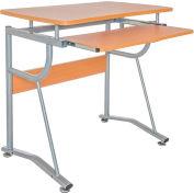 "Techni Mobili Compact Computer Desk, 43""W x 20""D x 30""H, Cherry"