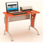 "Techni Mobili Computer Desk with CPU Caddy, 44""W x 24""D x 30""H, Dark Honey"