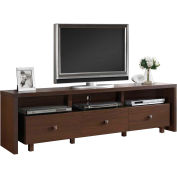 "Techni Mobili 70"" TV Stand with 3 Drawer Hickory"
