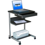 "Techni Mobili Rolling Laptop Desk with Storage, 22""W x 20""D x 31""H, Graphite"