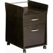 """Techni Mobili Rolling File Cabinet, 15-3/4""""W x 24-3/4""""D x 19-1/4""""H, Espresso"""