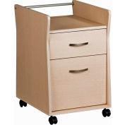 "Techni Mobili Rolling File Cabinet, 15-3/4""W x 24-3/4""D x 19-1/4""H, Ash"