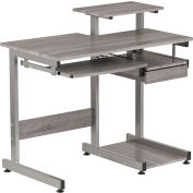 "Techni Mobili Complete Computer Workstation Desk, 37-3/4""W x 22""D x 35-1/4""H, Gray"