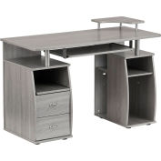 Techni Mobili Complete Computer Workstation Desk with Storage, Gray