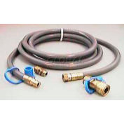 Hiland Hose NG-HOSE Natural Gas Rated With Quick Connect 12'L