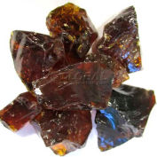"""Hiland Fire Glass RGLASS-AMB 1/2"""" to 1"""" Dia. Recycled Amber 10 Lbs"""
