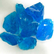 """Hiland Fire Glass RGLASS-TRQ 1/2"""" to 1"""" Dia. Recycled Turquoise 10 Lbs"""
