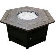 Hiland Fire Pit WLF-HEX Propane 40000 BTU Hexagon Bronze With Cover