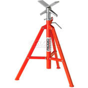 "RIDGID® Model No. Vf-99 V Head High Folding Pipe Stand, 12"" Max. Pipe Capacity, 28""-52"" Height"