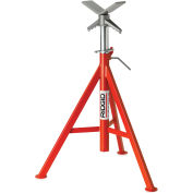 "RIDGID® Model No. Vj-99 V Head High Pipe Stand, 12"" Max. Pipe Capacity, 28""-53"" H"