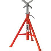"RIDGID® Model No. Vj-99 V Head High Pipe Stand, 12"" Max. Pipe Capacity, 28""-53"" H"
