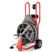 """RIDGID® K-750R W/Cage, IC Cables, Tool Box & Gloves, 115V, 1/2HP, 5/8"""", 100'L x 5/8""""W Cables"""