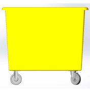 6 Bushel capacity-Mold in caster bracket only -Yellow Color
