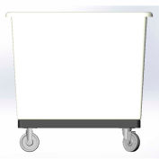 6 Bushel-Mold in caster bracket and plastic reinforcement base -  White Color