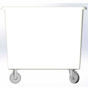 8 Bushel capacity-Mold in caster bracket only -White Color