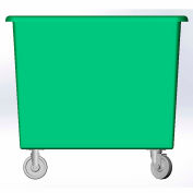 8 Bushel capacity-Mold in caster bracket only -Green Color