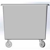 8 Bushel capacity-Mold in caster bracket only -Gray Color