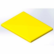 Lid for 10 Bushel cart- Yellow color