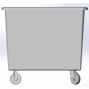 12 Bushel capacity-Mold in caster bracket only -Gray Color