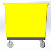 14 Bushel capacity-Mold in caster bracket and plastic reinforcement base- Yellow Color