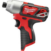 """Milwaukee 2462-20 M12 Cordless 1/4"""" Hex Impact Driver (Bare Tool Only)"""