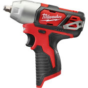 "Milwaukee 2463-20 M12 Cordless 3/8"" Square Impact Wrench W/ Ring (Bare Tool Only)"