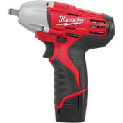 "Milwaukee® 2451-22 M12™ Cordless 3/8"" Square Drive Impact Wrench W/ Ring"