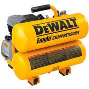 DeWALT® D55153, 1.1 HP, Hand Carry, 4 Gallon, Twin Stack, 125 PSI, 4 CFM, 1-Phase 120V
