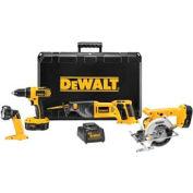 DeWALT® DC4CKITA Heavy-Duty 18V Compact Cordless 4-Tool Combo Kit