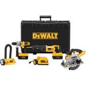 DeWALT® DCX6401 36V Cordless Li-Ion Hammerdrill/Circ/Recip/Floodlight Combo Kit