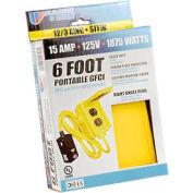 U.S. Wire 50015 Portable GFCI 6 Ft. 12/3 SJT 15A