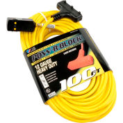U.S. Wire 50028 100 Ft. Triple Outlet Pow-R-Block w/ GFCI Plug, 12/3 Ga. SJTW-A, 15A