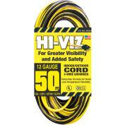 U.S. Wire 55050 50 Ft. Hi Viz Hard Service Vinyl Extension Cord