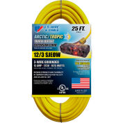 U.S. Wire 99025PB 25 Ft. Blue Artic/Tropic Cord W/Pow-R Block, 12/3 Ga. SJEOW-A, 300V, 15A