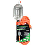 U.S. Wire TL525 25 Ft. Trouble Light W/Outlet & Metal Bulb Cage, 16/3 Ga. SJT, 13A