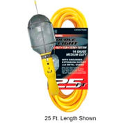 U.S. Wire TL650 50 Ft. Temp-Flex-35 Trouble Light W/Metal Bulb Cage, 14/3 Ga. SJT, 15A