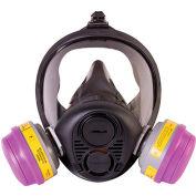 North® RU6500 Silicone Full Facepiece Respirator, Medium, RU65001M