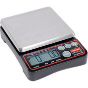 "Rubbermaid 1812589 Pelouze Compact Digital Portioning Scale 10lb x 0.1 oz 5-1/8"" Diameter Platform"