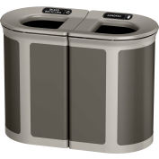 Rubbermaid Enhance™ Pill Shaped Decorative Recycling Container, 46 Gal., Umbra Grey - 1970200