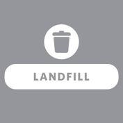 Rubbermaid Waste Stream Label Landfill Kit for 20G Brute, Untouchable & Wastebasket - 1992435